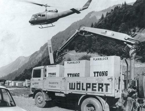Baustofflieferung per Hubschrauber für die Kempter Hütte