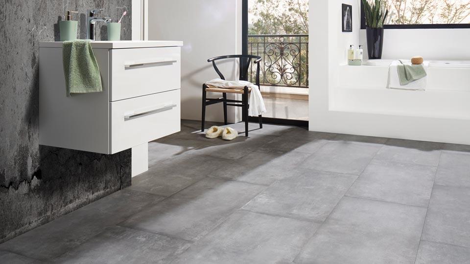 Vinyl betonoptik. dunkelgrau ambient click plus vinyl beton