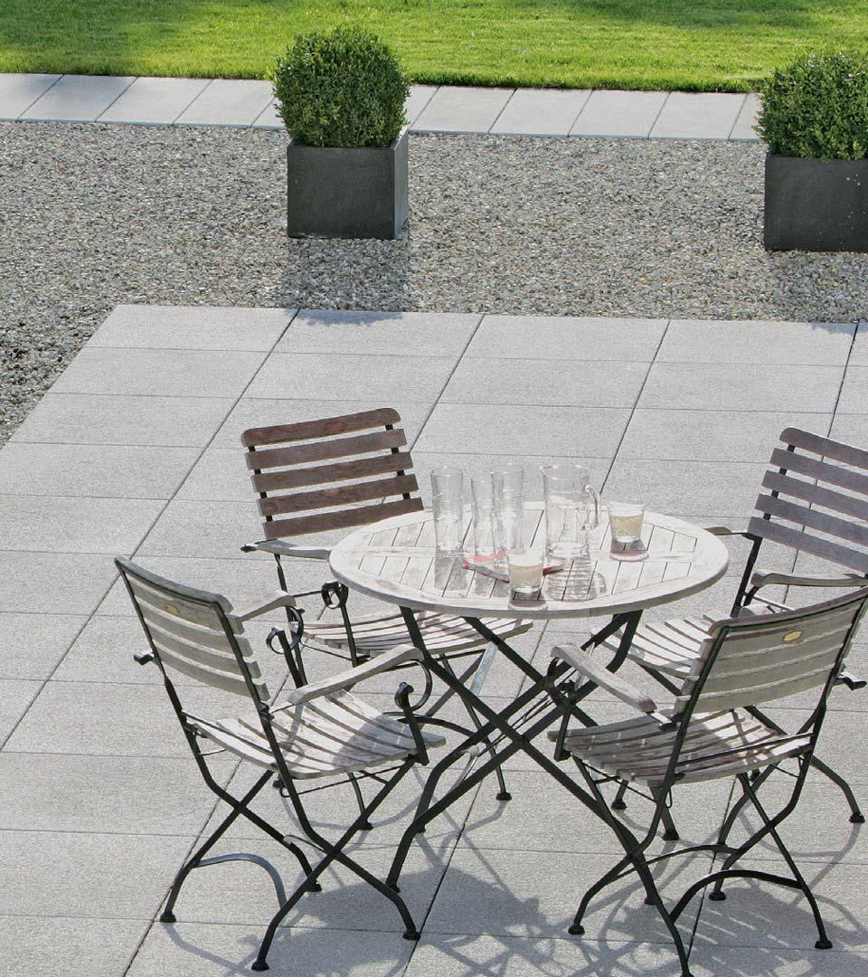 Moderne Terrassenplatten